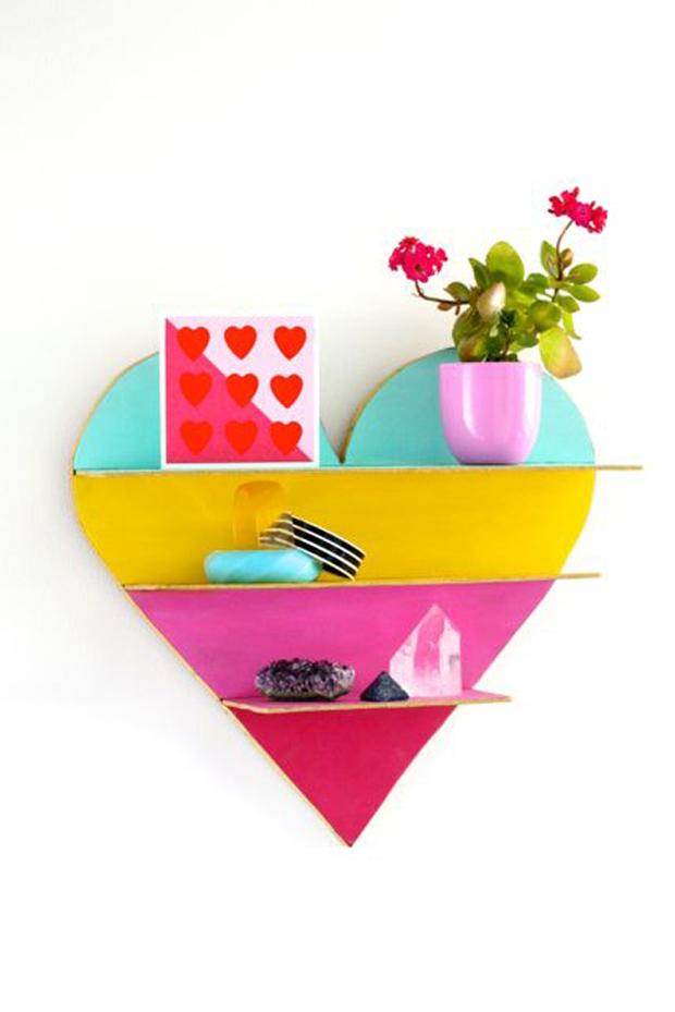 Tạo điểm nhấn trang trí tường với kệ treo tường trái tim sắc màu - Ảnh 11.