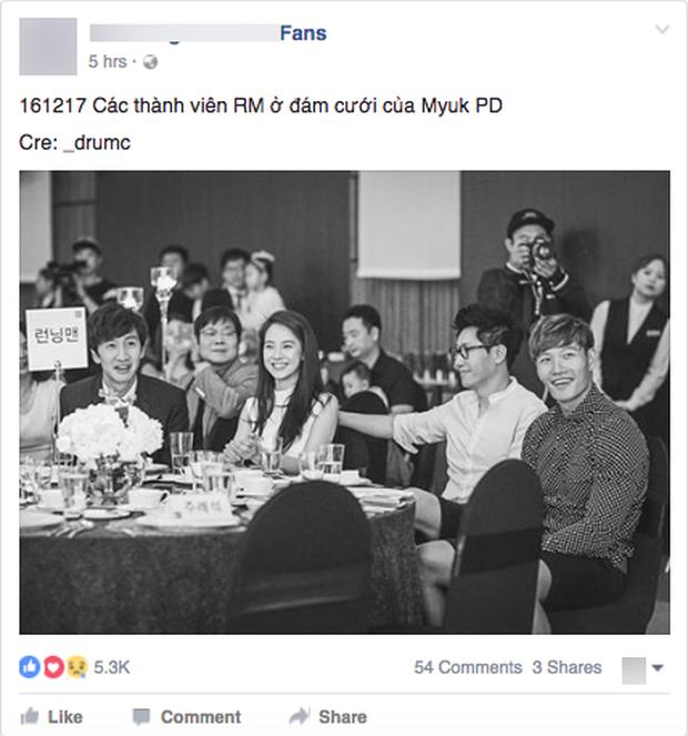 Hình ảnh 4 thành viên Running Man tại đám cưới Myuk PD bỗng được chia sẻ như vũ bão - Ảnh 3.