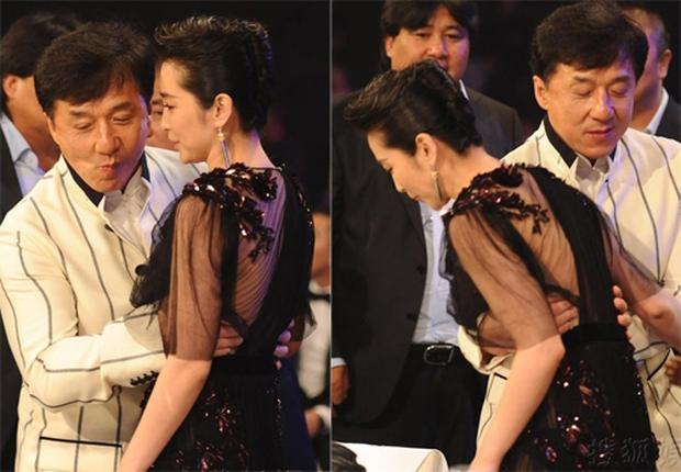 Những khoảnh khắc ngại ngùng của mỹ nhân Hoa ngữ khi bị sàm sỡ công khai - Ảnh 8.