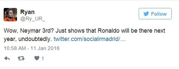 Cư dân mạng dậy sóng vì Ronaldo xếp trên Neymar - Ảnh 5.