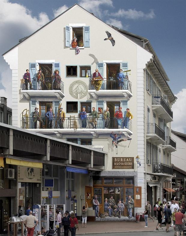 Chán ngán với các bức tường xám xịt, họa sĩ này đã tạo ra cả một thành phố nghệ thuật - Ảnh 11.