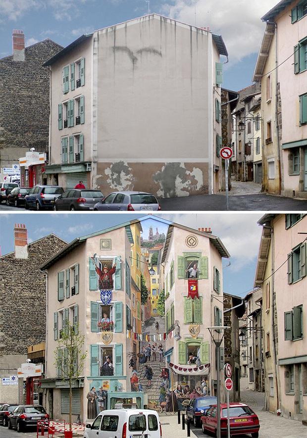 Chán ngán với các bức tường xám xịt, họa sĩ này đã tạo ra cả một thành phố nghệ thuật - Ảnh 2.