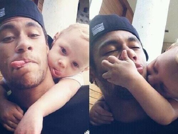 """Những khoảnh khắc hài hước """"khó đỡ"""" của Neymar và con trai cưng - Ảnh 5."""
