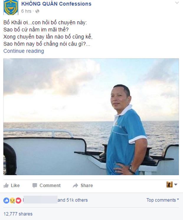 Những dòng thư nghẹn ngào gửi phi công Trần Quang Khải trong Ngày của cha - Ảnh 1.