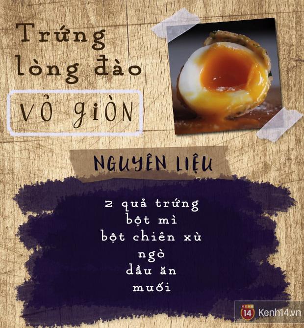 Chán trứng luộc bình thường, bạn hãy làm ngay kiểu trứng lòng đào vỏ giòn này nhé! - Ảnh 1.