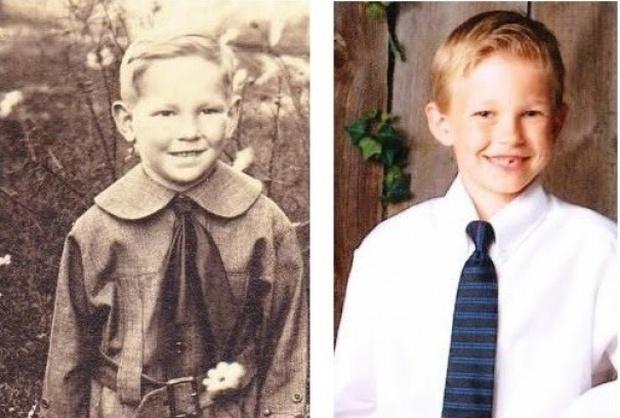 Sự giống nhau đáng kinh ngạc giữa các thế hệ trong cùng 1 gia đình - Ảnh 2.