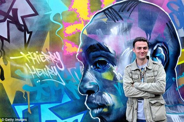 11 cầu thủ vĩ đại nhất lịch sử Euro qua nét vẽ nghệ thuật graffiti - Ảnh 10.