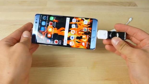 Thử nghiệm với USB sát thủ: iPhone 7 Plus và Samsung Galaxy Note7 – cái nào sẽ nổ trước? - Ảnh 7.