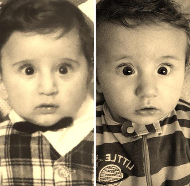 Sự giống nhau đáng kinh ngạc giữa các thế hệ trong cùng 1 gia đình - Ảnh 8.