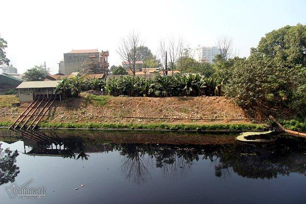 Hà Nội: Lềnh bềnh rau muống trên dòng sông đỏ quạch - Ảnh 9.