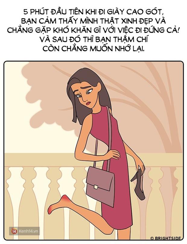Đây chính là nỗi khổ mà chỉ những cô nàng đi giày cao gót mới hiểu! - Ảnh 7.