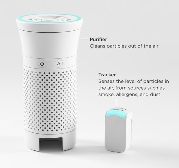 Không lo hại phổi với máy lọc không khí cá nhân gọn bằng chai nước - Ảnh 3.