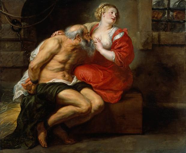 Câu chuyện bất ngờ đằng sau bức tranh ông già ngậm bầu ngực cô gái trẻ - Ảnh 2.