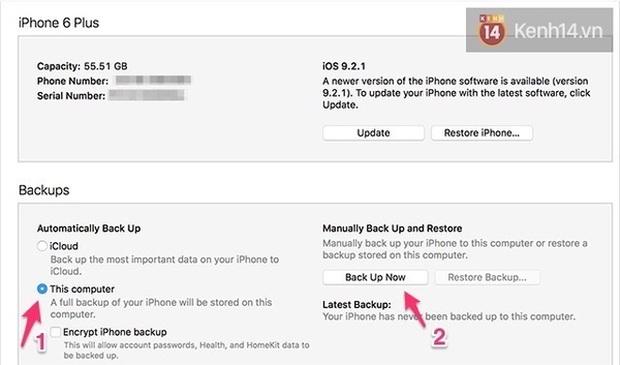 Làm ngay những điều này để sao lưu iPhone trước khi cập nhật lên iOS 10 - Ảnh 4.
