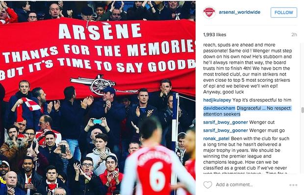 Ra mặt ủng hộ Wenger, Beckham bị chửi thậm tệ - Ảnh 2.