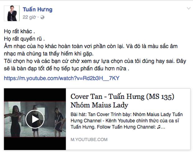 Tuấn Hưng hết lời khen ngợi khi Maius Lady về nhất trong cuộc thi Tan Cover - Ảnh 3.