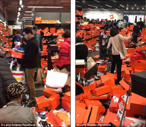 Cửa hàng Nike ở Mỹ bị bới tung, như vừa trải qua một trận động đất trong ngày Black Friday - Ảnh 7.