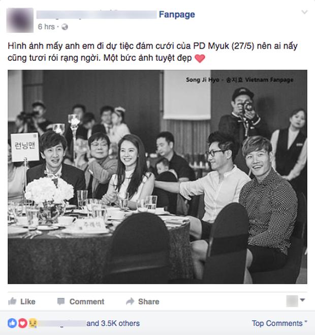 Hình ảnh 4 thành viên Running Man tại đám cưới Myuk PD bỗng được chia sẻ như vũ bão - Ảnh 2.