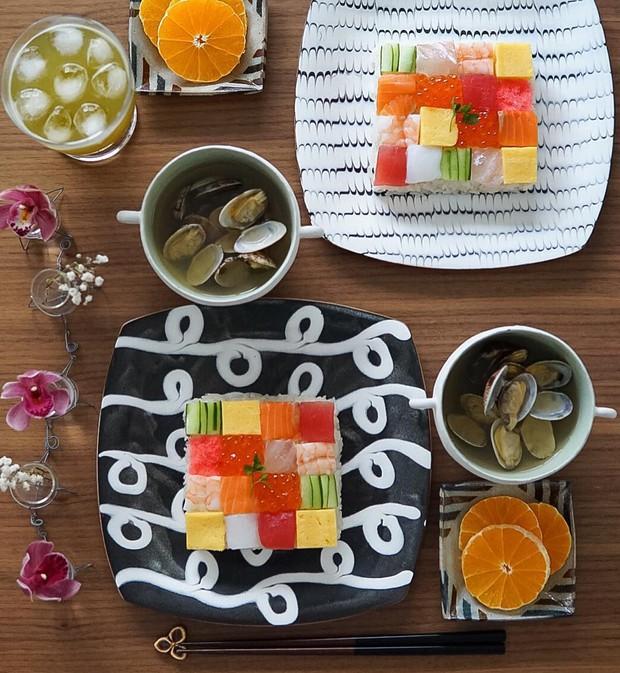 Sushi miếng xưa rồi, bây giờ người Nhật chuyển qua ăn sushi xếp hình đẹp như tranh cơ - Ảnh 8.
