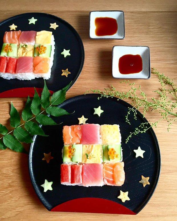 Sushi miếng xưa rồi, bây giờ người Nhật chuyển qua ăn sushi xếp hình đẹp như tranh cơ - Ảnh 5.