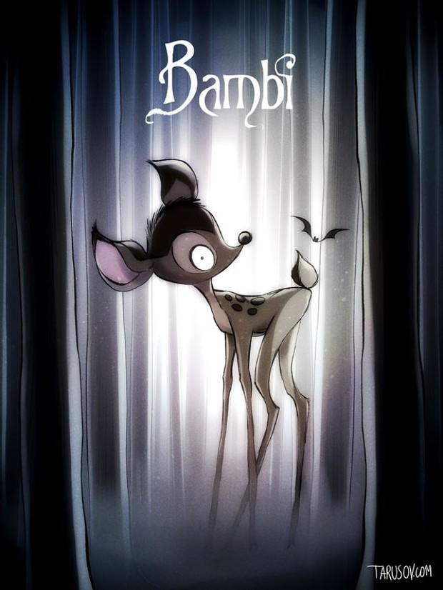 Dàn sao hoạt hình Disney sẽ như thế nào khi đi theo phong cách ma quái? - Ảnh 3.