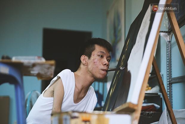 Gặp chàng trai Việt vẽ tranh bằng miệng trong phim được đề cử tranh giải Oscar 2016 - Ảnh 5.