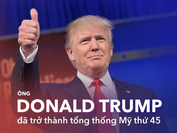 Ông Donald Trump chính thức trở thành Tổng thống thứ 45 của Mỹ - Ảnh 1.