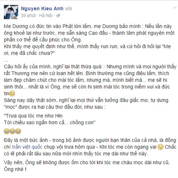 Con gái GS Văn Như Cương xuống tóc, cảm tạ vì bố qua cơn ốm nặng - Ảnh 11.