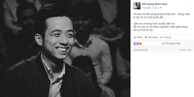 Khôi Te (He Always Smiles) xuất sắc ẵm 22 triệu trong gameshow Ai là triệu phú? - Ảnh 4.