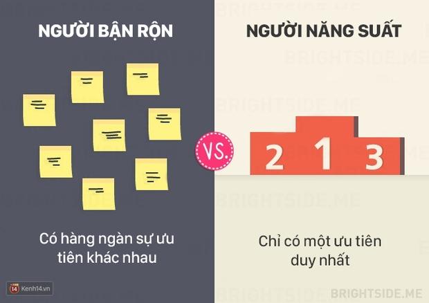 13 khác biệt giữa người bận rộn và người làm việc năng suất - Ảnh 2.