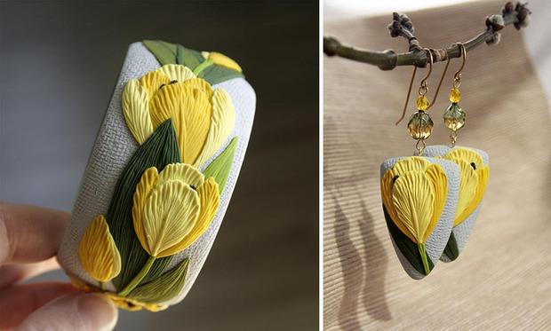 Làm dịu nắng hè cùng bộ sưu tập trang sức hoa cỏ tươi mát - Ảnh 4.