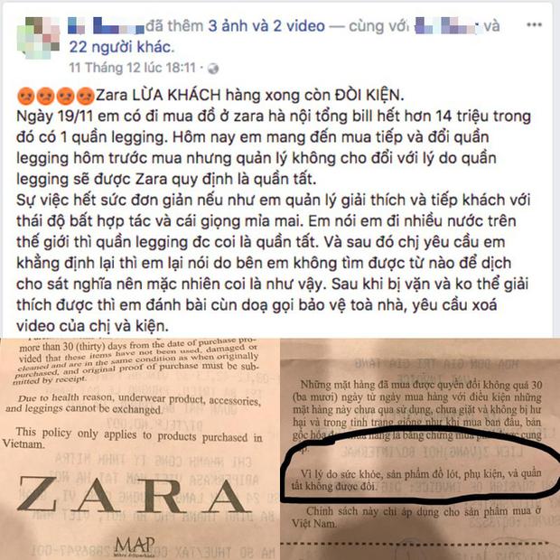 Để tránh ồn ào như vị khách mua quần legging tại Zara Hà Nội, học ngay chính sách đổi trả hàng của các thương hiệu đình đám sau - Ảnh 1.