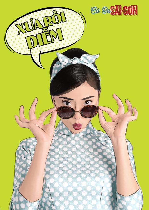 Hết tuyên truyền nữ quyền, các mỹ nhân Cô Ba Sài Gòn lại nhí nhảnh với phong cách pop-art - Ảnh 6.