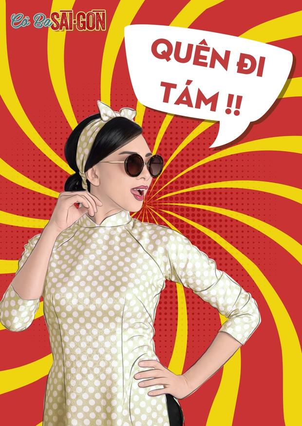 Hết tuyên truyền nữ quyền, các mỹ nhân Cô Ba Sài Gòn lại nhí nhảnh với phong cách pop-art - Ảnh 4.