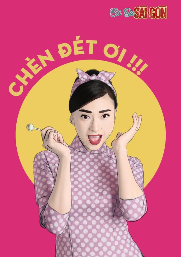 Hết tuyên truyền nữ quyền, các mỹ nhân Cô Ba Sài Gòn lại nhí nhảnh với phong cách pop-art - Ảnh 3.
