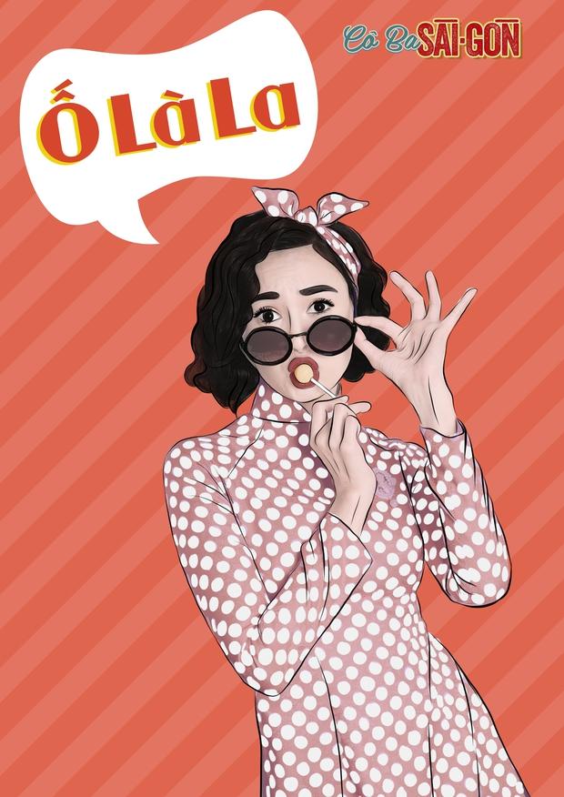 Hết tuyên truyền nữ quyền, các mỹ nhân Cô Ba Sài Gòn lại nhí nhảnh với phong cách pop-art - Ảnh 7.