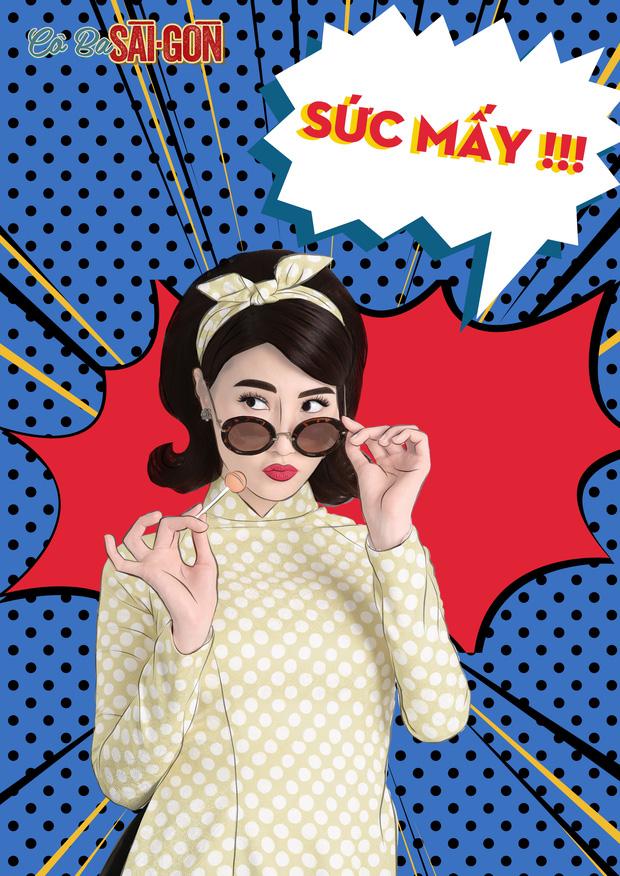 Hết tuyên truyền nữ quyền, các mỹ nhân Cô Ba Sài Gòn lại nhí nhảnh với phong cách pop-art - Ảnh 11.