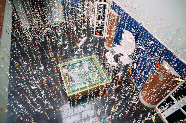 Trường Lương Thế Vinh đẹp như cổ tích với hàng nghìn con hạc giấy gửi đến thầy Văn Như Cương - Ảnh 12.