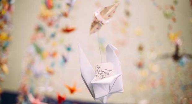 Trường Lương Thế Vinh đẹp như cổ tích với hàng nghìn con hạc giấy gửi đến thầy Văn Như Cương - Ảnh 7.