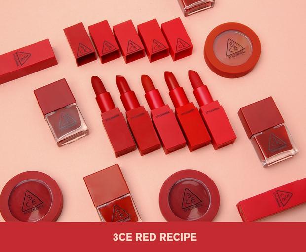 Các nàng lại chuẩn bị mất ăn mất ngủ với BST son đỏ Red Recipe tuyệt mỹ của 3CE - Ảnh 2.