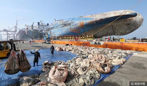 Những di vật được tìm thấy trong xác phà Sewol sau 3 năm chìm dưới đáy đại dương - Ảnh 3.