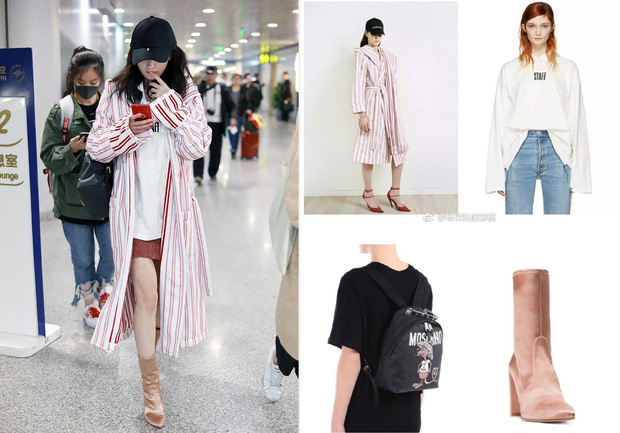 Mạnh tay sắm sửa đồ hiệu, Dương Mịch đã biến sân bay thành sàn diễn thời trang của riêng mình - Ảnh 4.