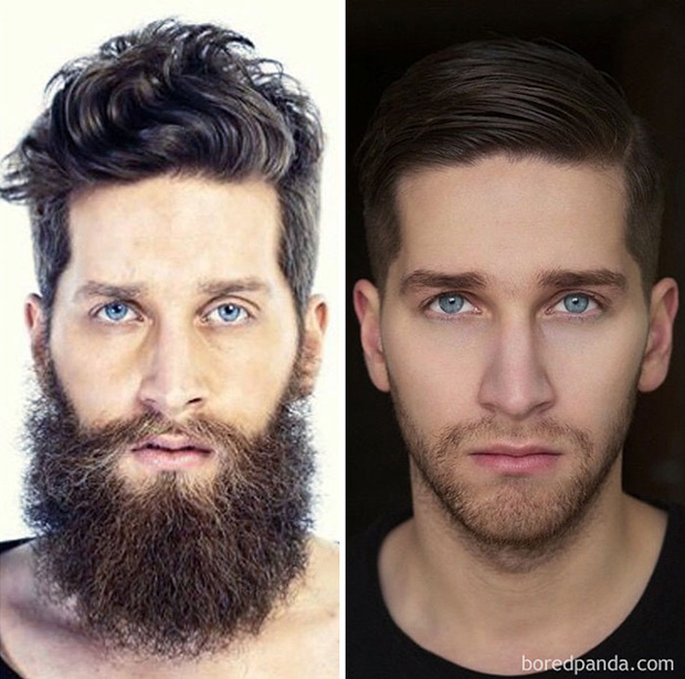 Sửng sốt với loạt ảnh nhan sắc đàn ông thay đổi bất ngờ trước và sau khi cạo râu - Ảnh 29.