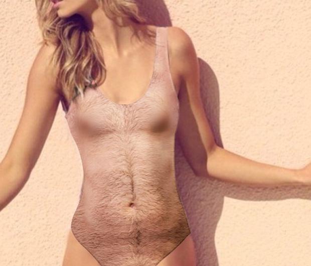 Đến phải chạy mất dép với mẫu áo bơi họa tiết lông lá rậm rạp như rừng Amazon - Ảnh 1.