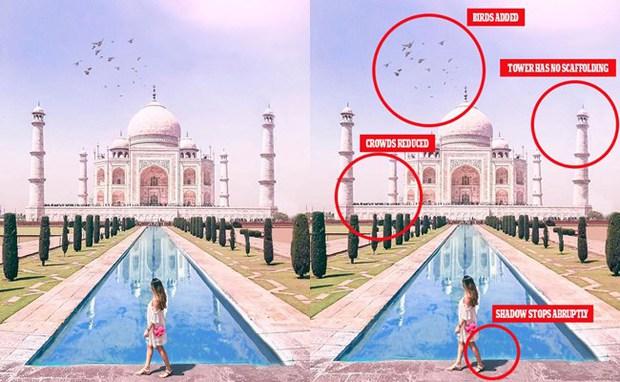 Sự thật đằng sau những tấm hình long lanh trên Instagram: Khi các blogger du lịch bị bóc phốt chỉnh ảnh quá đà - Ảnh 2.
