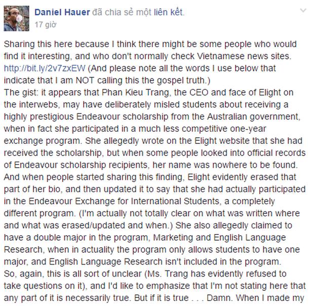 Dan Hauer bị phản đối khi bình phẩm hiếu thắng về bằng cấp cô giáo phát âm sai tiếng Anh - Ảnh 2.