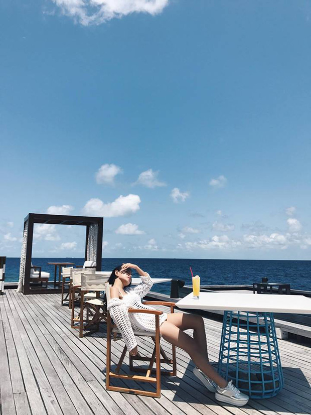 Tưởng đến Maldives nghỉ dưỡng, nào ngờ Châu Bùi được làm gương mặt thương hiệu cho Reebok - Ảnh 5.