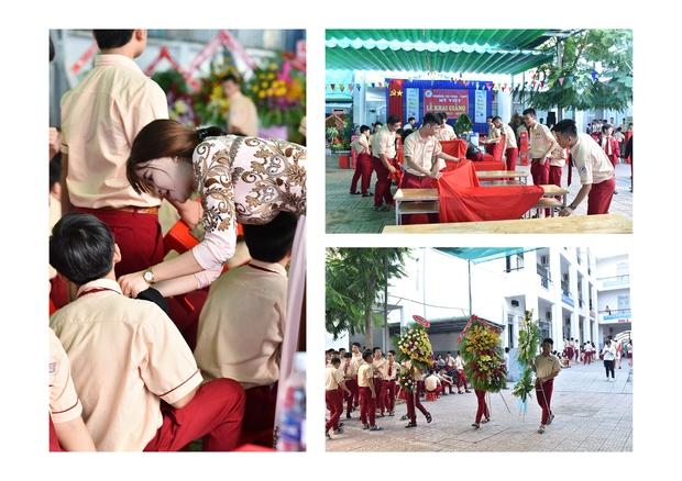 Only C, Miu Lê trở về tuổi thơ trong lễ Khai giảng trường TH-THCS-THPT Mỹ Việt - Ảnh 1.