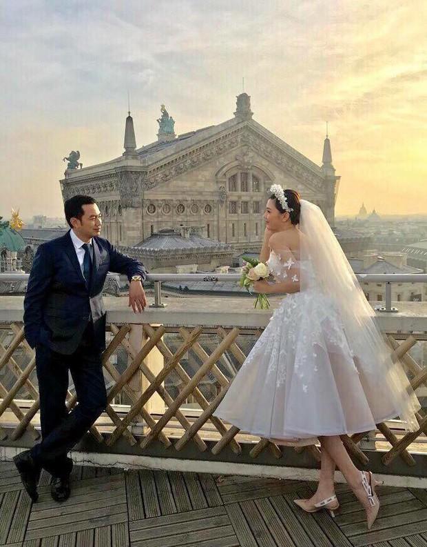 Hé lộ ảnh cưới như mơ của Nữ hoàng sắc đẹp Ngọc Duyên và bạn trai doanh nhân hơn 18 tuổi - Ảnh 1.