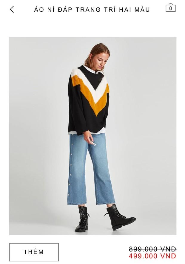 14 mẫu áo len, áo nỉ dưới 500.000 VNĐ trendy đáng sắm nhất đợt sale này của Zara - Ảnh 11.